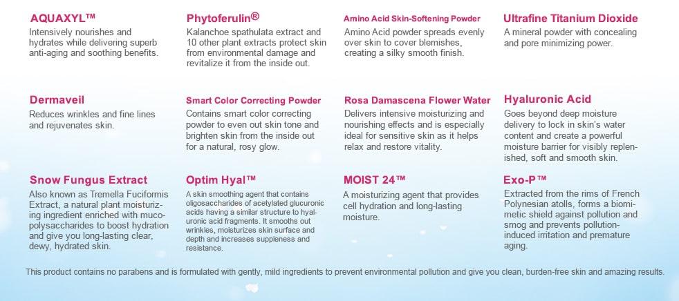 Magic Cooling Aqua Powder - Ingredients