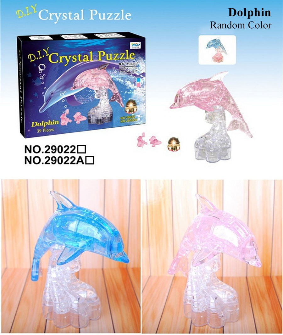 3D Crystal Puzzle - Dolphin