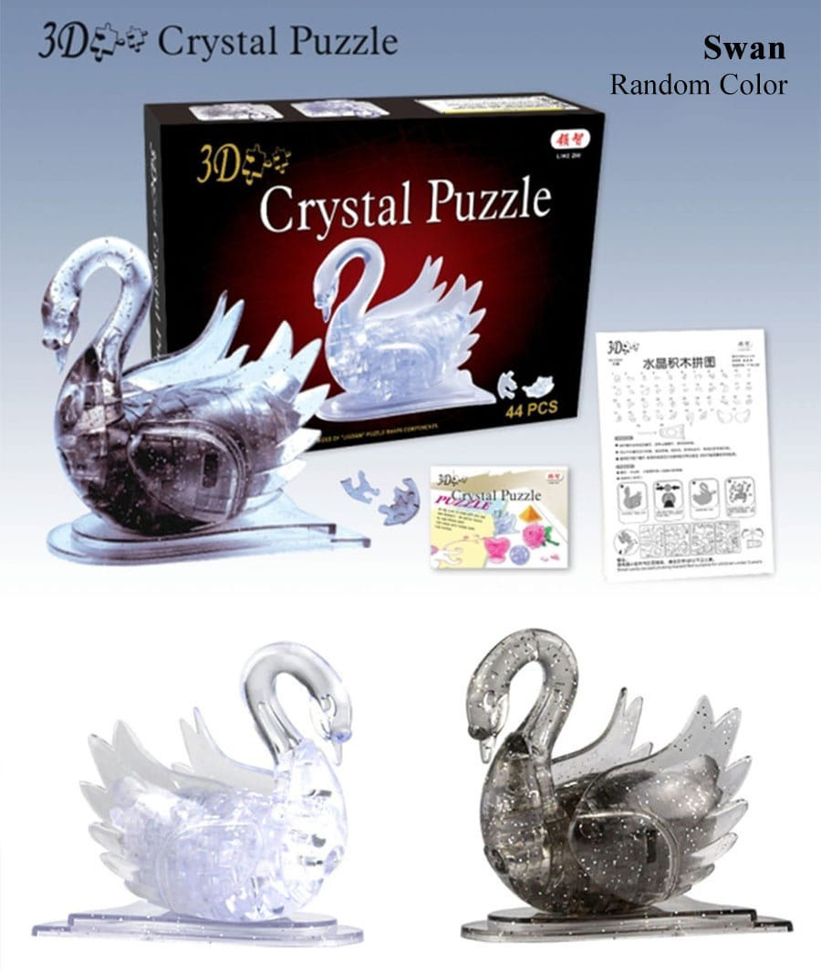 3D Crystal Puzzle - Swan