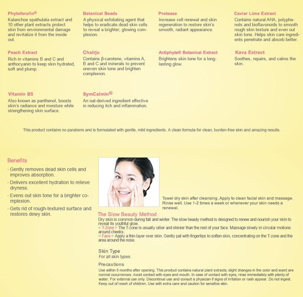 Enzyme Exfoliating Skin Smoothie - Ingredients Usage