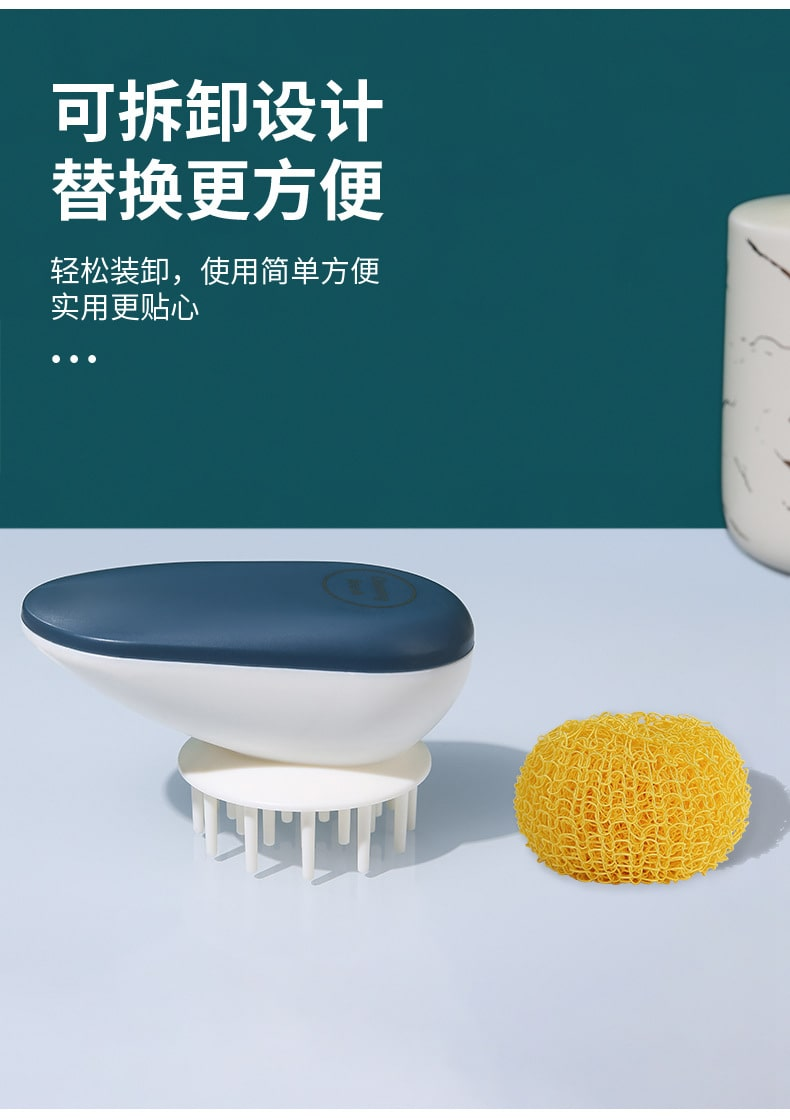 Nylon Ball Kitchen Brush - Features