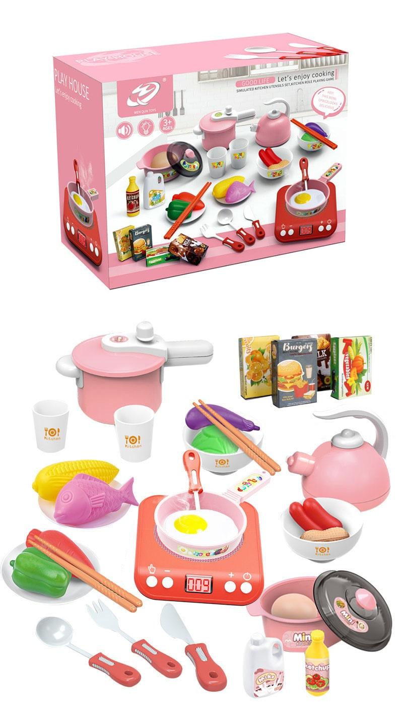 Induction Mini Kitchen Set - Pink