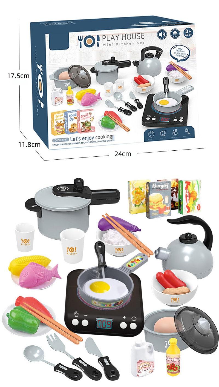 Induction Mini Kitchen Set - Black