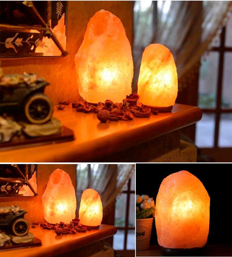 Himalayan Salt Stone Lamp - Display