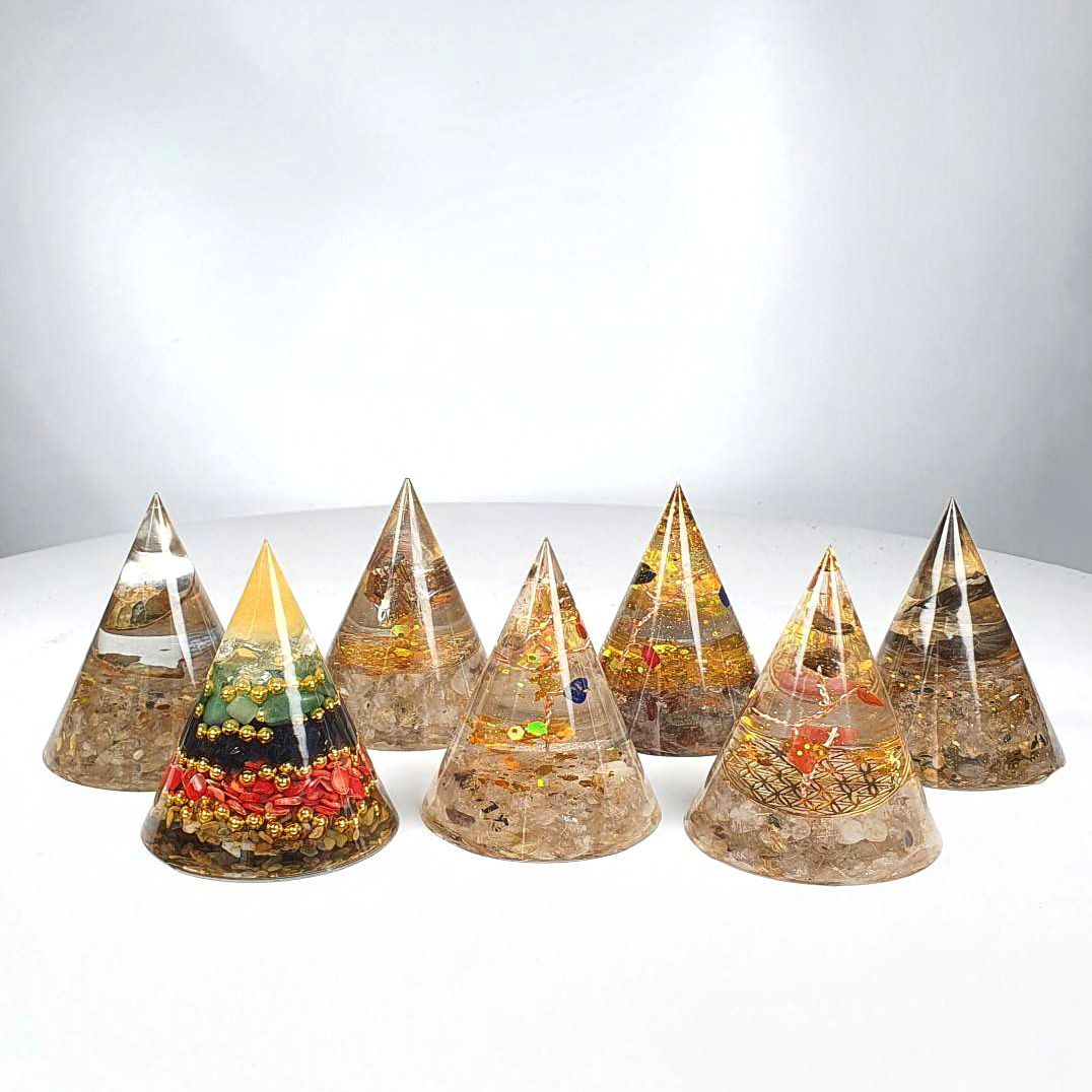 Pyramid Crystal Decoration - Cone All Types