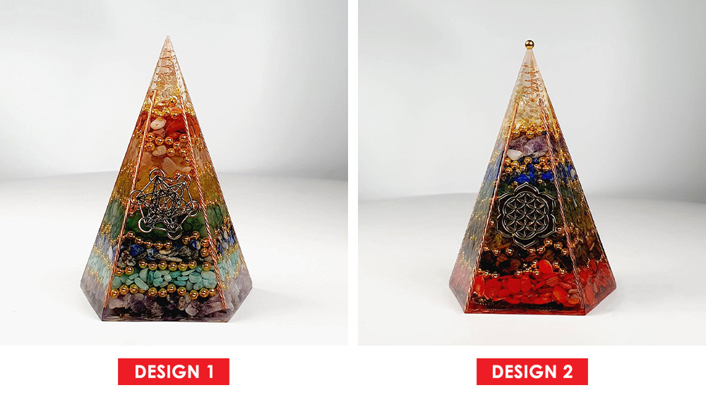 Pyramid Crystal Decoration - Design