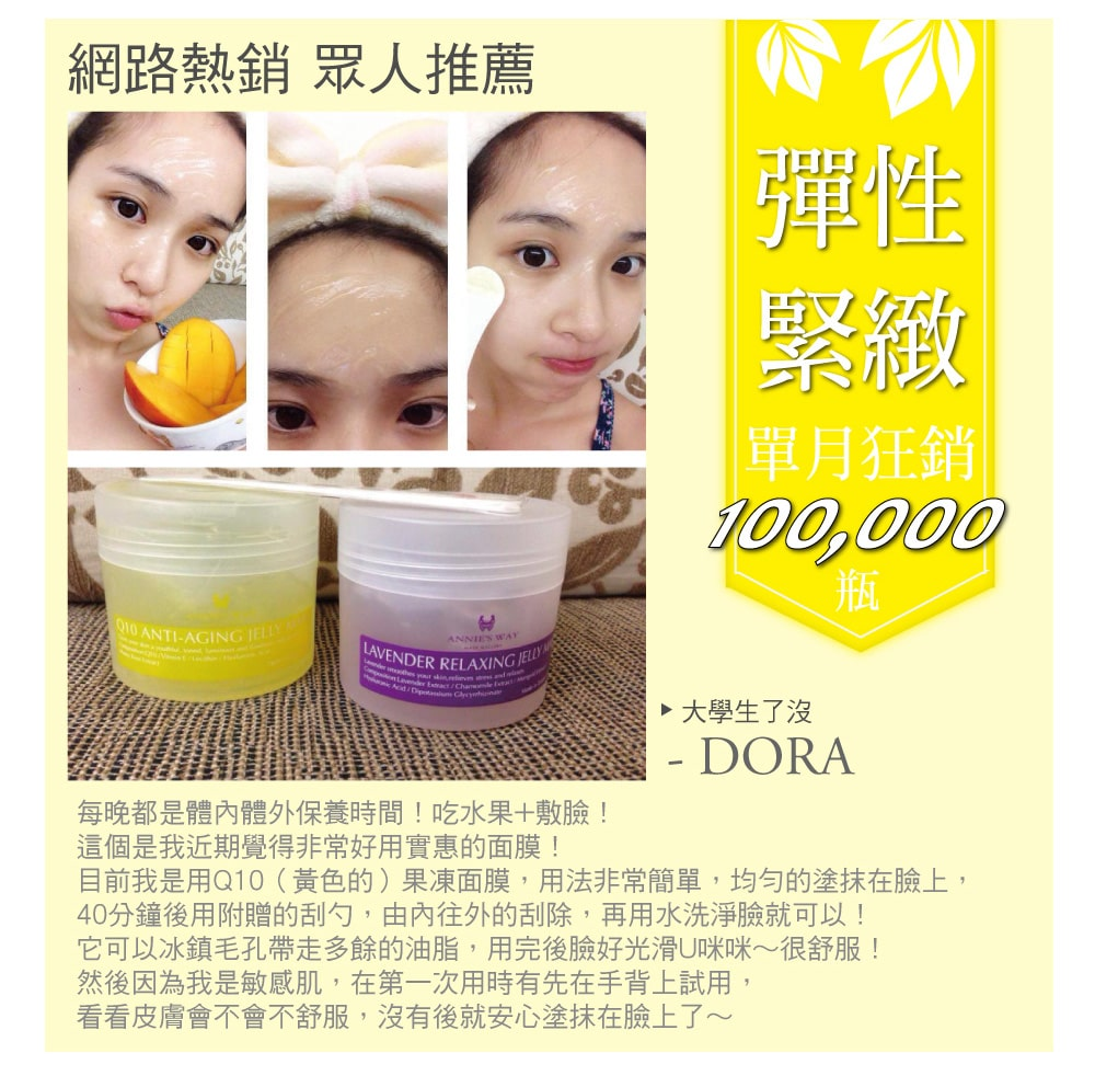 Q10 Anti-Aging Jelly Mask - Recommendation